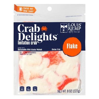 Louis Kemp Crab Delights Imitation Crab Flake Style - 8oz
