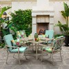 Elea Tropical Clean Finish Outdoor Chair Cushion Aqua - Arden Selections - image 2 of 2