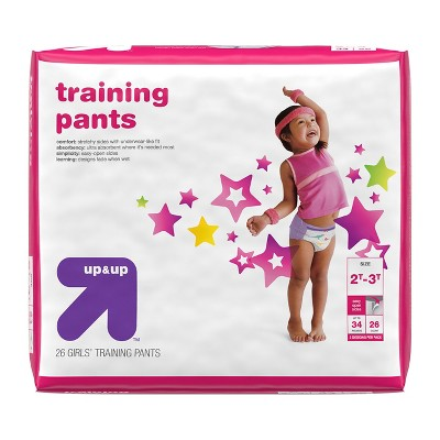 Training Pants for Girls - 2T-3T (26ct)- Up&Up™