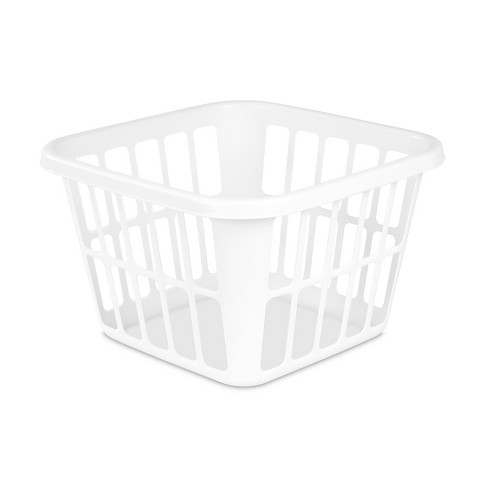 1.25bu Laundry Basket White - Room Essentials™ - image 1 of 3