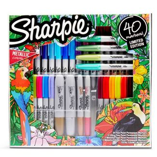 40ct Permanent Markers Gift Kit Ultra Fine/Fine Variety Pack - Sharpie