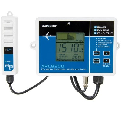 Autopilot APC8200 Hydroponics CO2 Monitor and Controller, 15-Inch Remote Sensor for Grow Rooms and Tents with Memory Tracker, Blue