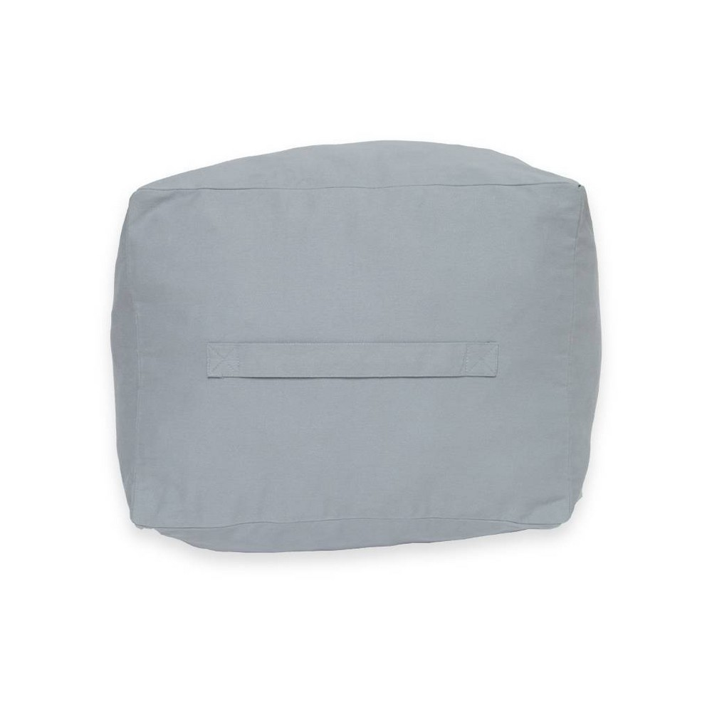 Image of Kids Square Pouf Fog Gray - Acme Made