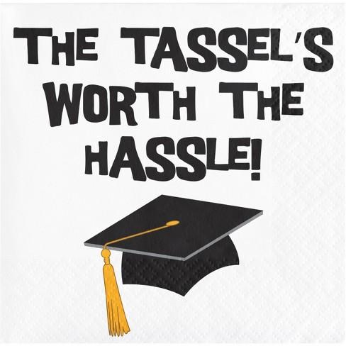Tassel Hassle Graduation Beverage Napkins - image 1 of 1