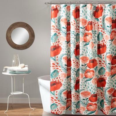 Poppy Garden Shower Curtain - Lush Décor