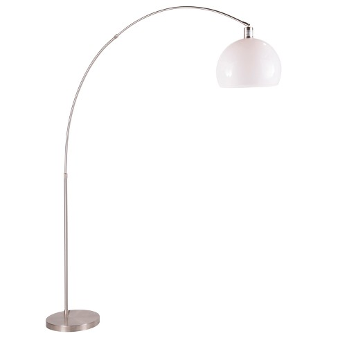 Decco Modern Arched Floor Lamp Satin