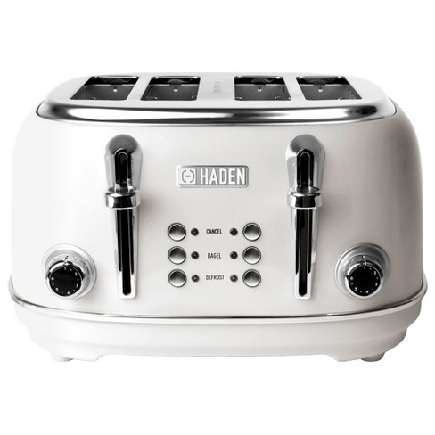 Haden 75013 Heritage 4 Slice Wide Slot Stainless Steel Body Countertop Retro Toaster with Defrost and Adjustable Browning Control, White - image 1 of 4