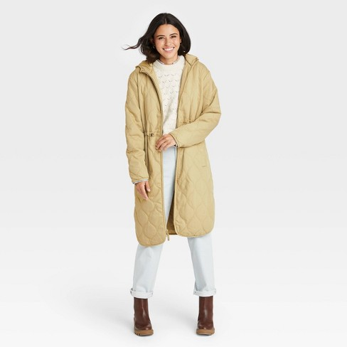 Women's Long Quilted Jacket - Universal Thread™ - image 1 of 3
