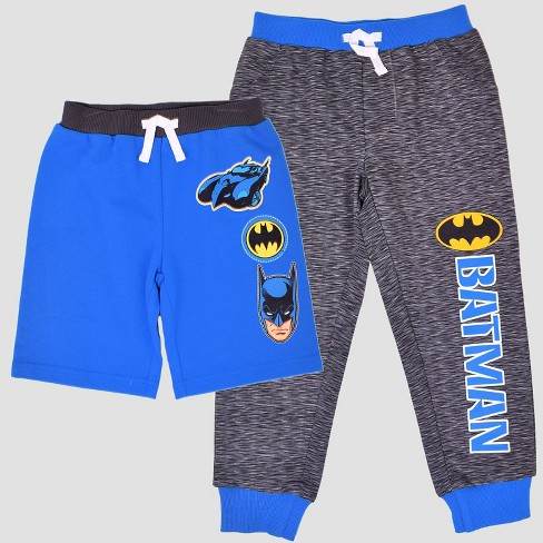 921a768356 Toddler Boys' DC Comics Batman Pants & Shorts Set - Blue : Target