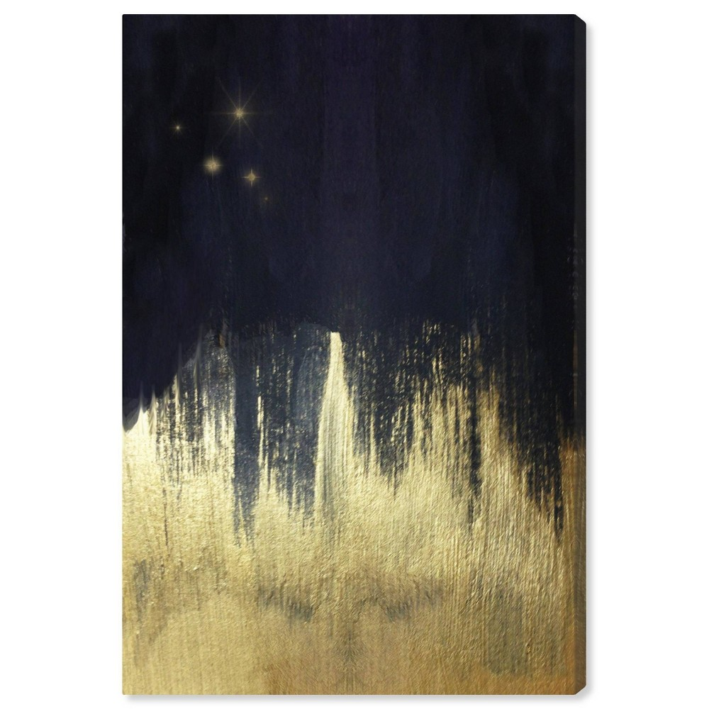 Image of 10'' x 15'' Starry Night Unframed Wall Canvas Navy/Gold - Oliver Gal
