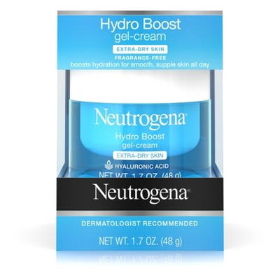 Neutrogena Hydro Boost Hyaluronic Acid Gel Face Moisturizer to hydrate and smooth extra-dry skin - 1.7oz