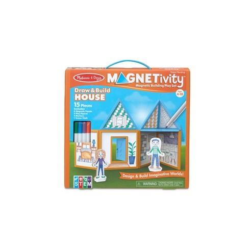 Melissa & Doug Magnetivity - Draw & Build House - image 1 of 4