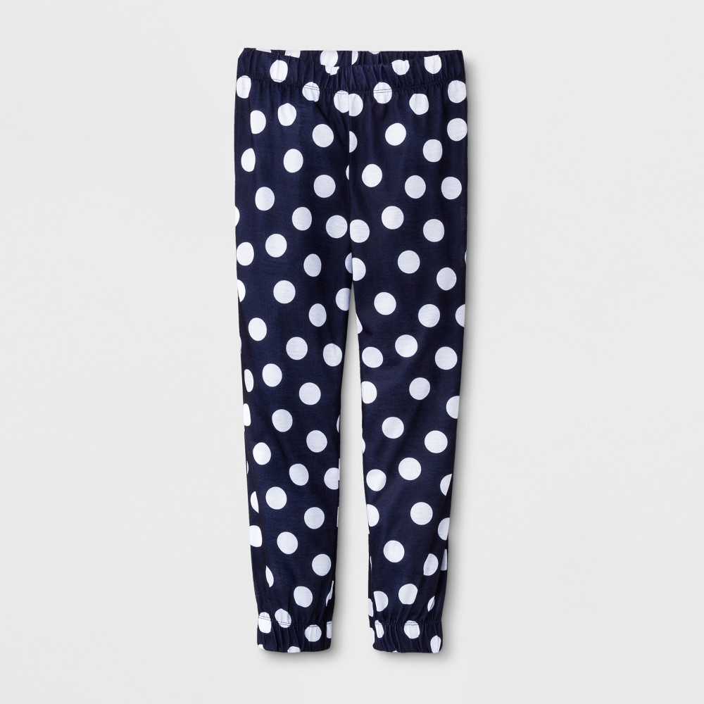 Girls' Polka Dot Jogger Sleep Pajama Pants - Cat & Jack Navy M, Blue