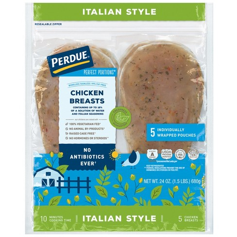 Perdue Perfect Portions Boneless Skinless Italian Style Chicken Breasts -  1 5lbs