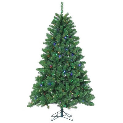 7ft Sterling Tree Company Pre-Lit Full Montana Pine with 400 Warm Multicolored LED lights Artificial Christmas Tree