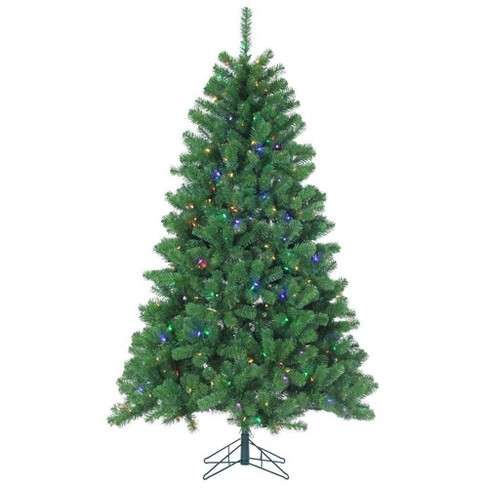 7ft Sterling Tree Company Pre-Lit Full Montana Pine with 400 Warm Multicolored LED lights Artificial Christmas Tree - image 1 of 3