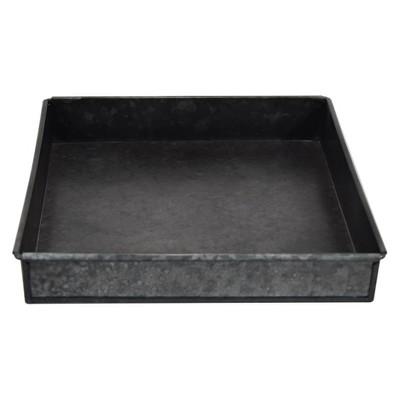 10  Iron Galvanized Tray - Black - Smith & Hawken™