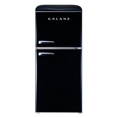 Galanz 4.0 cu ft True Freezer Dual-Door Refrigerator  - Black