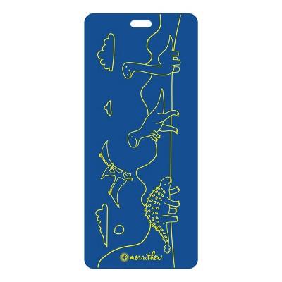Merrithew Dinoland Kids' Eco Yoga Mat - Blue (4mm)