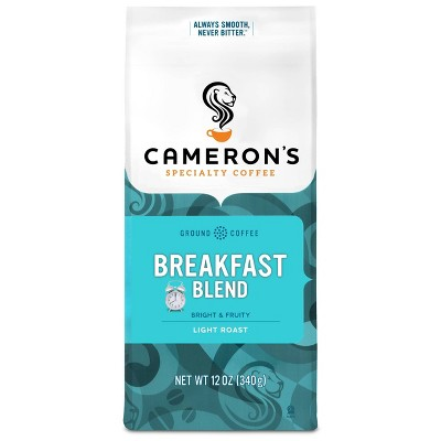 Cameron's Breakfast Blend Light Roast Ground Coffee 12oz