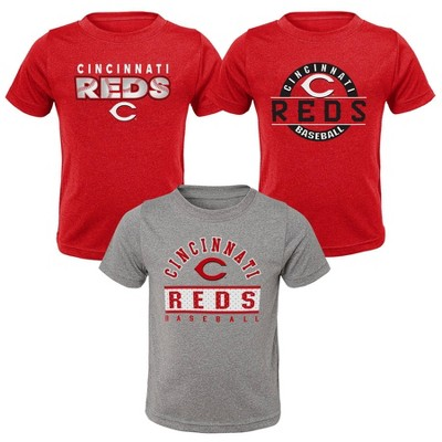 MLB Cincinnati Reds Toddler Boys' 3pk T-Shirt Set