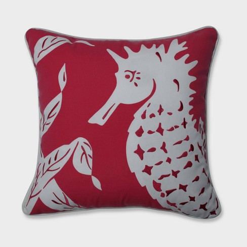 Sally Seahorse Throw Pillow Pink - Pillow Perfect - image 1 of 2