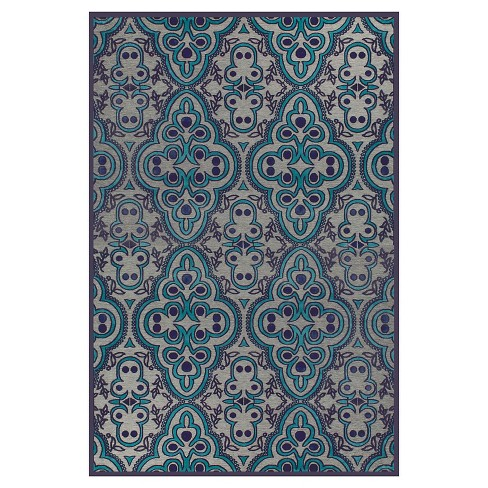 Gray Charcoal Geometric Loomed Accent Rug 2 X4 Room Envy