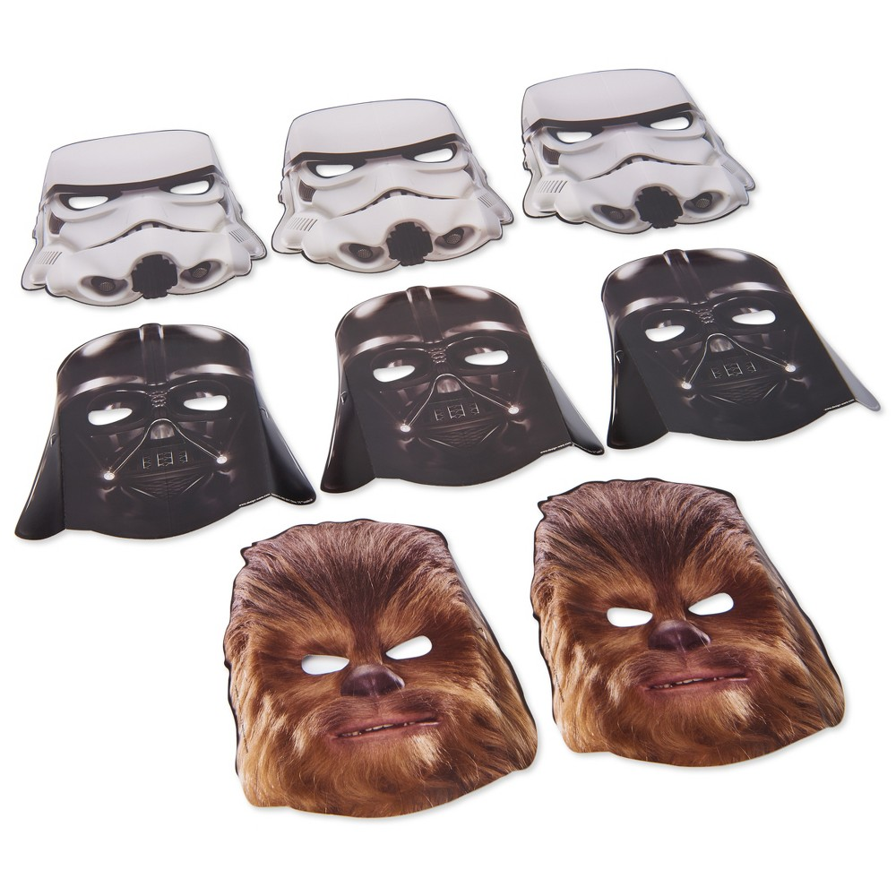 8ct Star Wars Episode Viii Masks, Kids Unisex, Multi-Colored