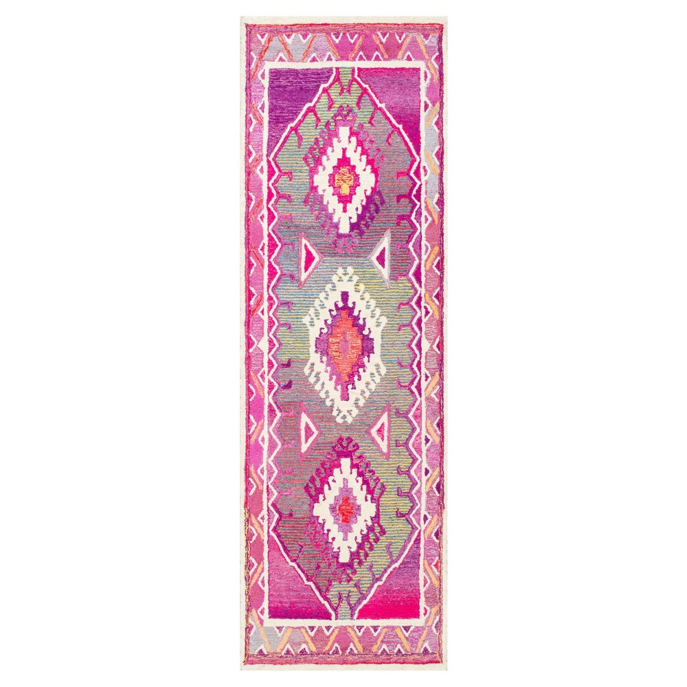 Pink Solid Tufted Runner - (2'6x8') - nuLOOM