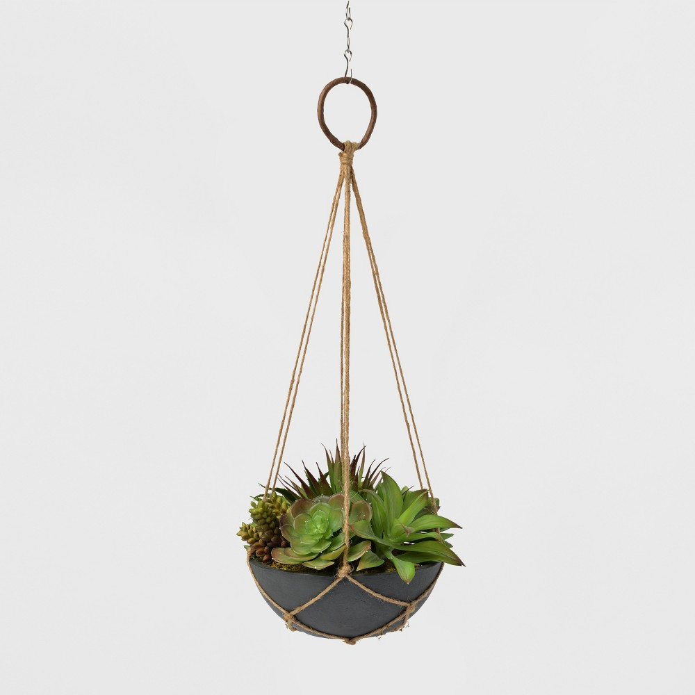 Image of Hanging Twine Succulent Planter - Lloyd and Hannah, Green