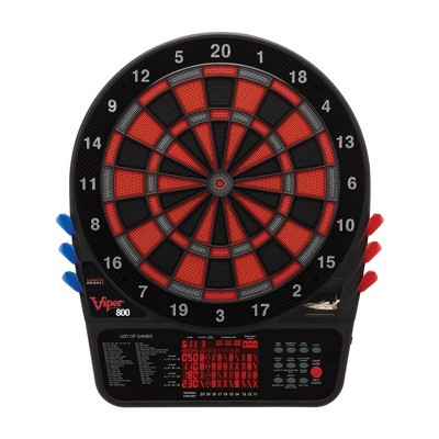 Viper 800 Electronic Soft Tip Dartboard Cabinet Set with Darts for Game Room