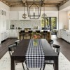 Kate Aurora Country Farmhouse Living Reversible Buffalo Plaid/Solid Table Runners - image 3 of 4