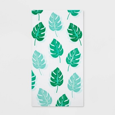 Printed Palm Leaf Beach Towel Green - Sun Squad™