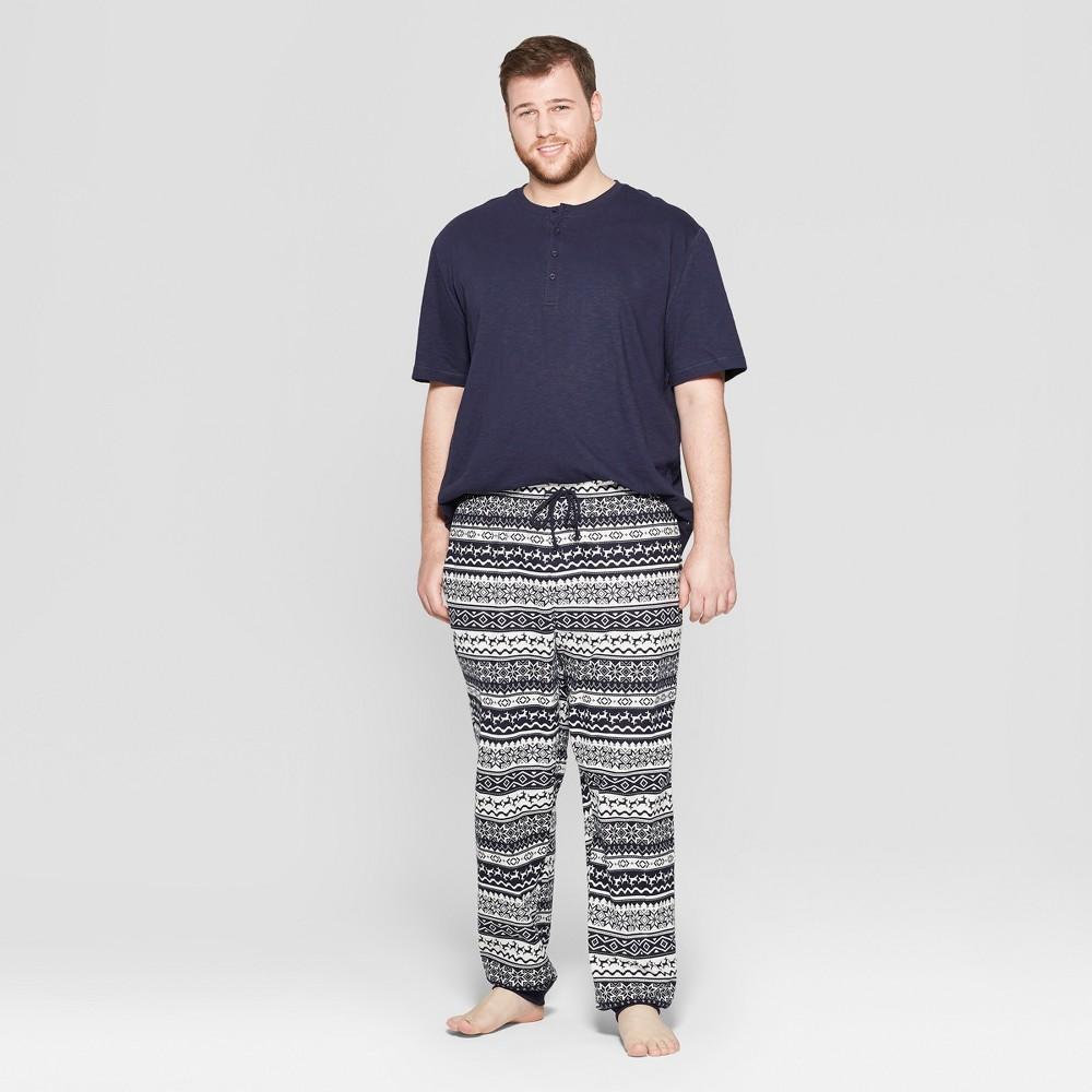 Men's Big & Tall Elevated Pajama Set - Goodfellow & Co Navy (Blue) 2XBT