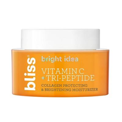 Bliss Bright Idea Vitamin C + Tri-Peptide Collagen Protecting & Brightening Moisturizer - 1.7 fl oz