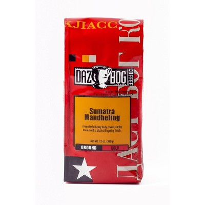 Dazbog Sumatra Mandheling Dark Roast Ground Coffee - 12oz