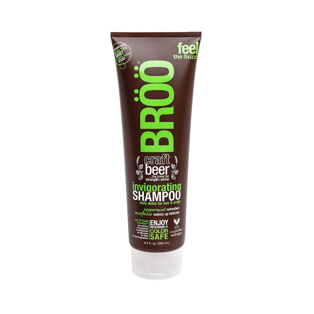 Broo Craft Beer Strength + Shine Invigorating Shampoo - 8.5 fl oz