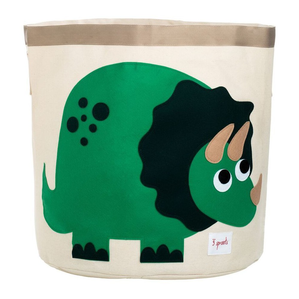 Image of Extra Large Round Dino Canvas Kids Toy Storage Bin - 3 Sprouts