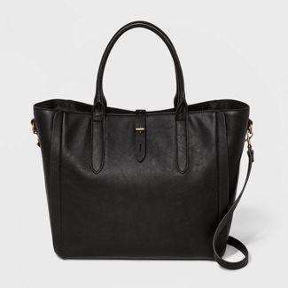 Tote Handbag with Toggle Hardware - Universal Thread™ Midnight Black
