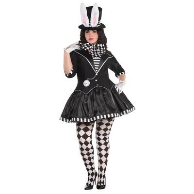 Adult Plus Dark Mad Hatter Halloween Costume 2X