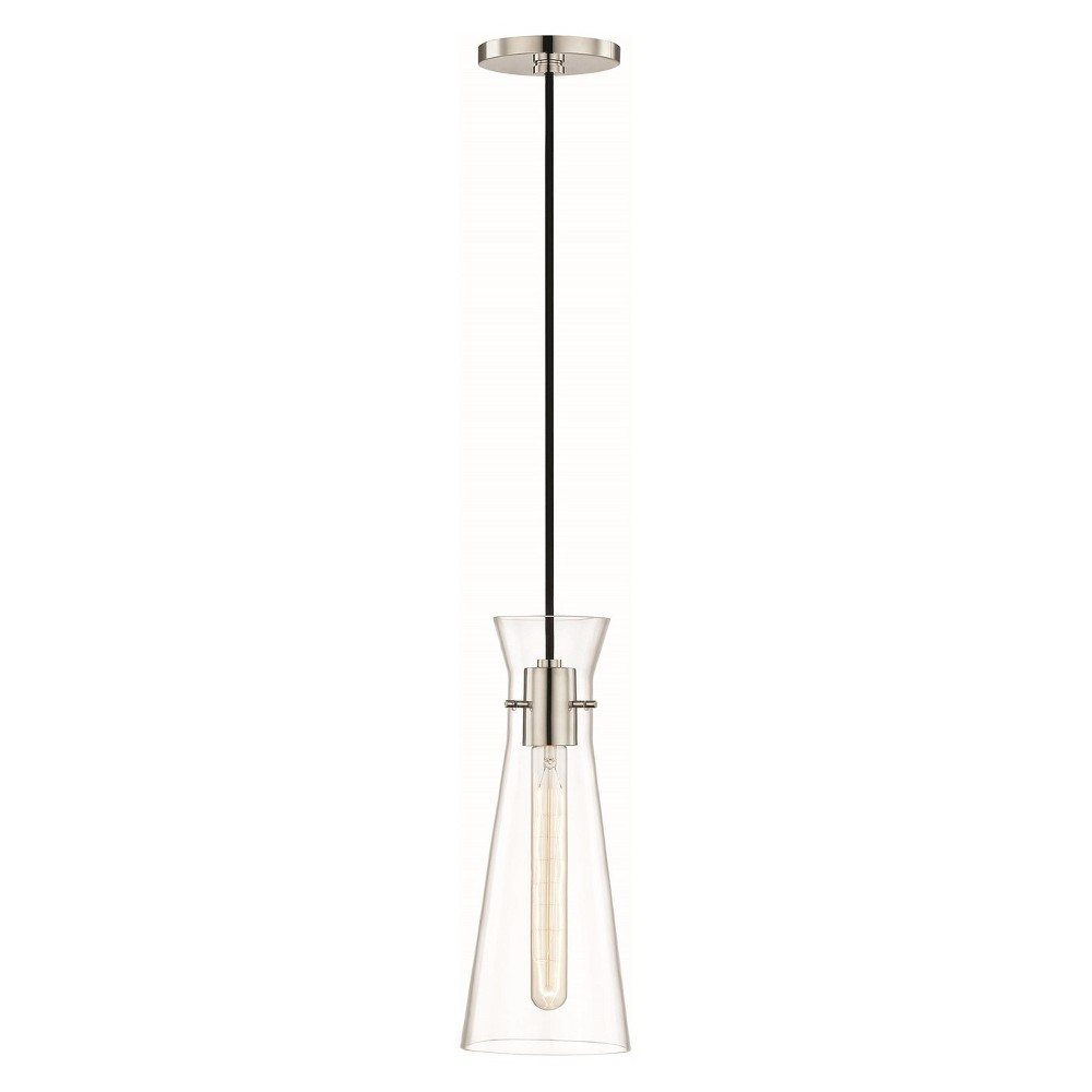 Image of 1pc Anya Light Pendant Brushed Nickel - Mitzi by Hudson Valley