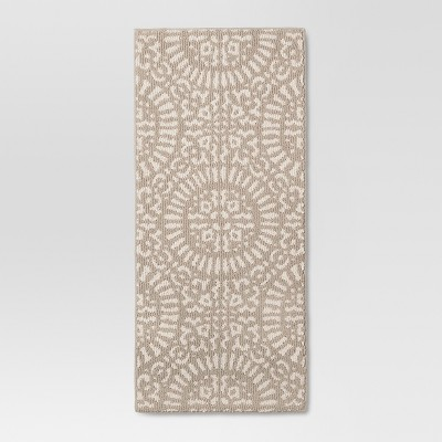 1'8  x 3'9  Tan Medallion Kitchen Rugs - Threshold™