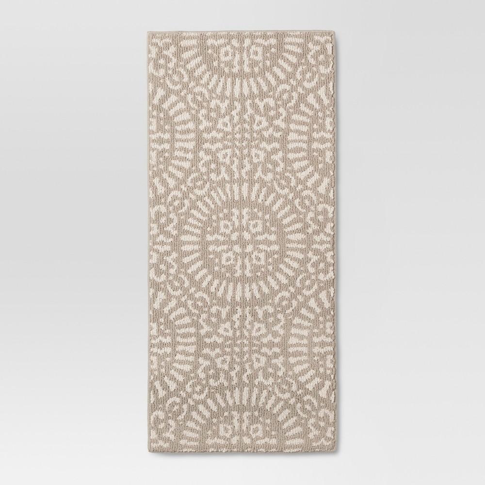x 3'9in Tan Medallion Kitchen Rugs