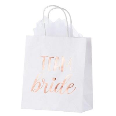 20pcs Bridesmaid Groomsmen Gift Bridal Wedding Party Favor Bags w/ Tissue Paper