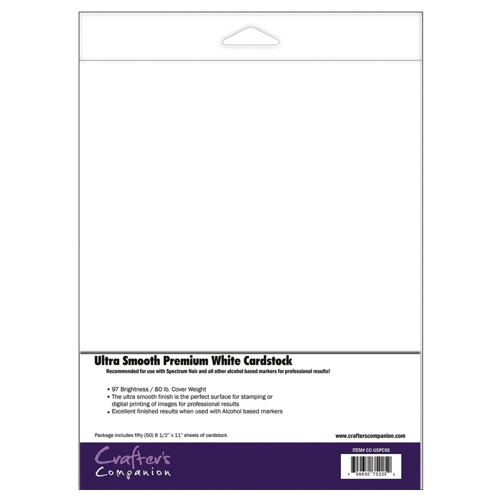 Image of Spectrum Noir Ultra Smooth Premium Cardstock - White