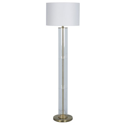 Clear Column Floor Lamp (Includes LED Light Bulb)Brass - Project 62™
