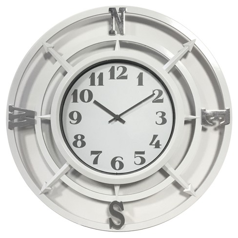 "Compass 14"" Wall Clock White - Westclox® - image 1 of 1"