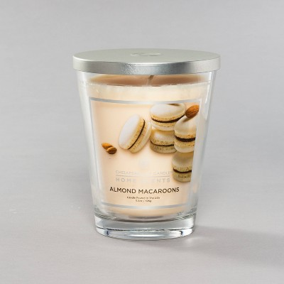 11.5oz Glass Jar Candle Almond Macaroons - Home Scents By Chesapeake Bay Candle