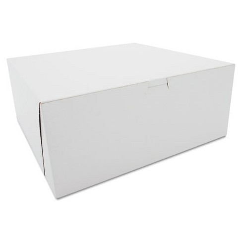 SCT Tuck-Top Bakery Boxes Paperboard White 12 x 12 x 5 0987 - image 1 of 1
