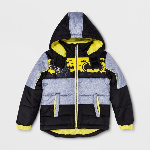 4808aab2c Boys  Batman Puffer Jacket - Black   Target